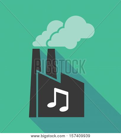 Factory Icon With A Note Music