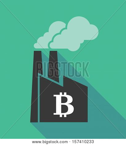 Factory Icon With A Bit Coin Sign