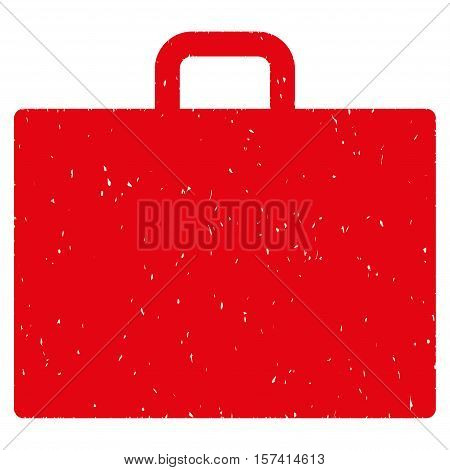 Case grainy textured icon for overlay watermark stamps. Flat symbol with scratched texture. Dotted vector red ink rubber seal stamp with grunge design on a white background.