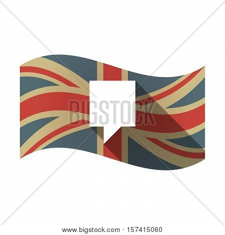 Isolated Uk Flag With A Tooltip