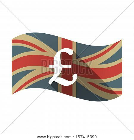 Isolated Uk Flag With A Pound Sign