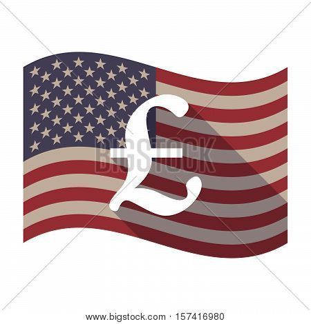 Long Shadow Usa Flag With A Pound Sign