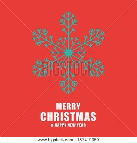 Christmas And New Year Greeting Card. Template Snowflakes Laser Cut.