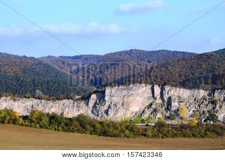 Mountains and stone pit, Carpathian Mountains  Slovakia