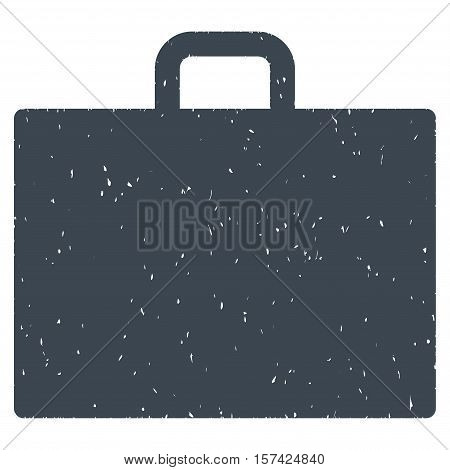 Case grainy textured icon for overlay watermark stamps. Flat symbol with scratched texture. Dotted vector smooth blue ink rubber seal stamp with grunge design on a white background.