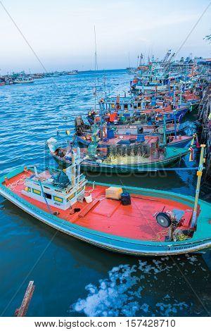 Industrial  fishing. Fishing  boats.Thailand's  fishing  industry.