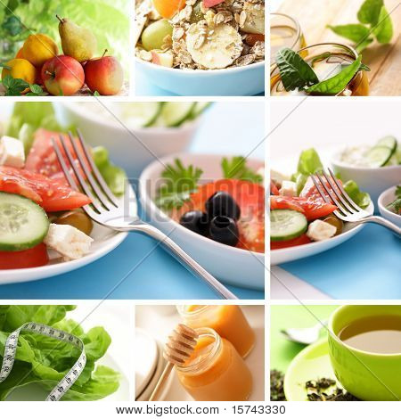 healthy eating collage