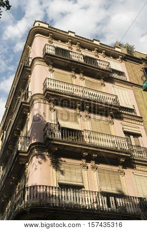 Barcelona (Catalunya Spain): residential palace in the gothic quarter