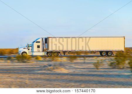 Truck On Highway 8 In Sunrise