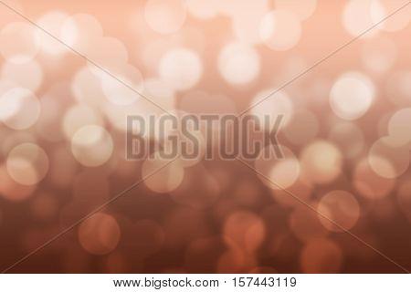 Abstract circular copper tone color bokeh background