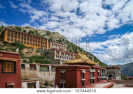 Buildings of a Gyantse monastery near Lhasa in central Tibet