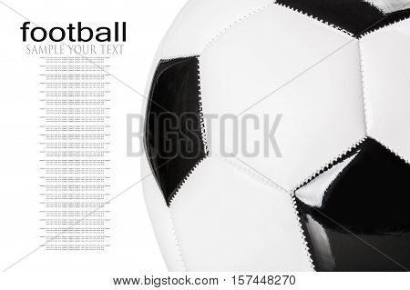 Soccer ball or football bright studio isolation. delete text