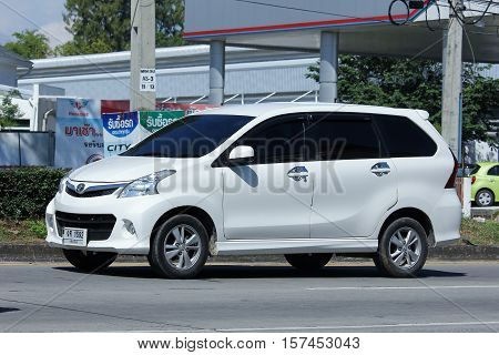 CHIANG MAI THAILAND - OCTOBER 27 2016: Private Toyota Avanza car. Mini Suv Car for Urbun User. Photo at road no.121 about 8 km from downtown Chiangmai thailand.
