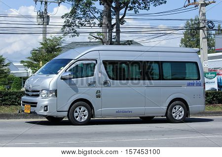CHIANG MAI THAILAND - OCTOBER 27 2016: Private Toyota commuter van. Photo at road no.121 about 8 km from downtown Chiangmai thailand.