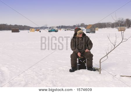 Ice Fishing Man