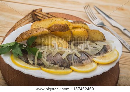 Fried Potatoes With Herring