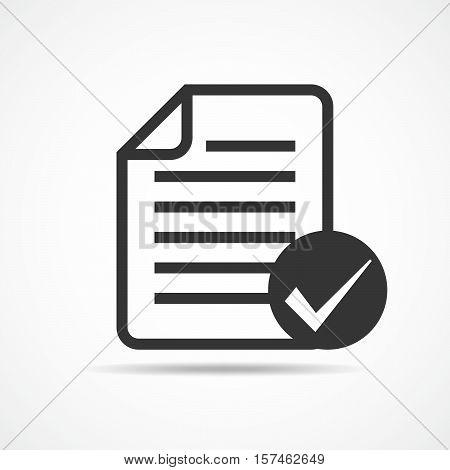 Checklist icon. Concept of quality control. Black checklist icon in flat design. Vector illustration.
