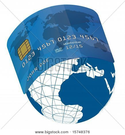 Credit Card On Globe