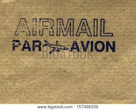 Vintage Looking Airmail Letter