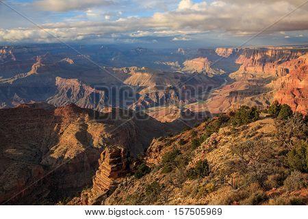 Beautiful Landscape Of Grand Canyon From South Rim, Arizona, United States
