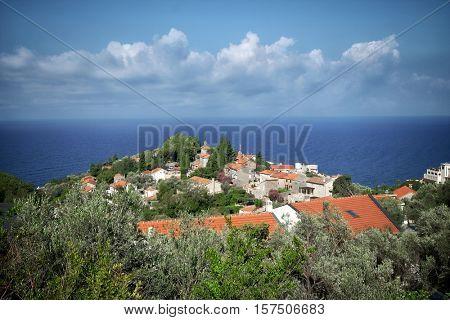 coastal village in Montenegro