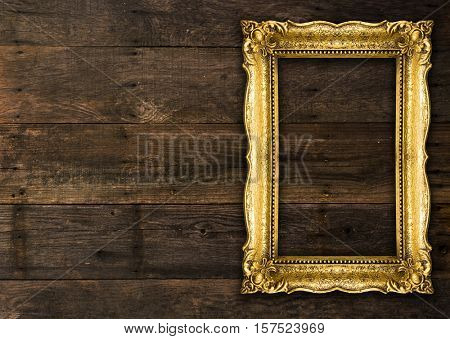 Old Picture Frame on wooden background