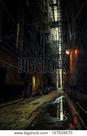 Dark Urban Alley