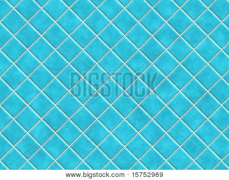 Blue Bathroom Tiles in Abstract Diagonal Background