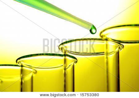 Reagenzgläser in Science Research lab