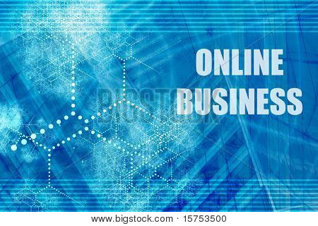 Online Business Abstract Background with Internet Network