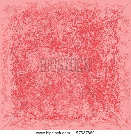Pink rough background. Grunge texture. Uneven backdrop. Square.