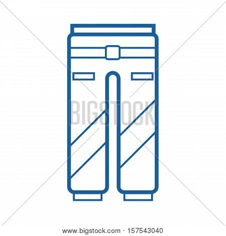 Sport pants outline vector icon. Protective work or active lifestyle trousers pictogram isolated on white. Snowboard suit pants thin line icon.