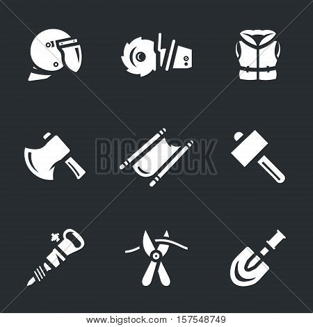 Helmet, saw, life jacket, ax, stretcher, hammer, hammer, pliers, shovel