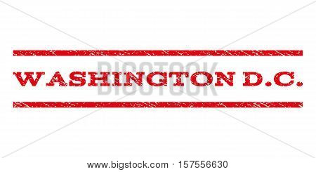Washington D.C. watermark stamp. Text tag between parallel lines with grunge design style. Rubber seal stamp with dirty texture. Vector red color ink imprint on a white background.