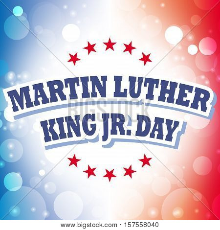 Martin Luther King Jr. Day card on celebration background, vector