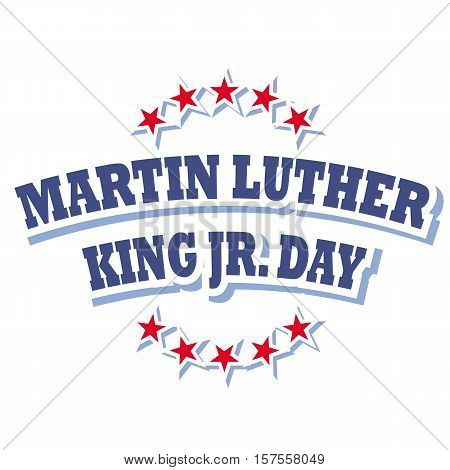 Martin Luther King Jr. Day logo symbol isolated on white background, vector