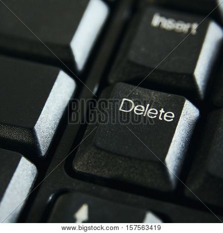Delete button keyboard of computer in office