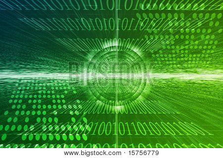 Cyber Business System Data Abstract Background Wallpaper