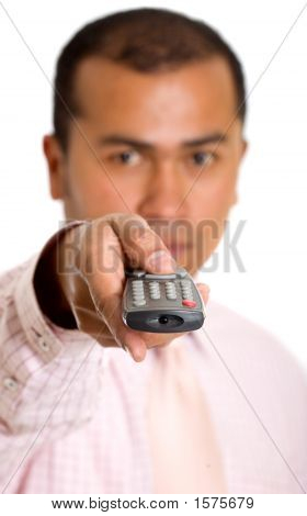 Business Man With A Remote Control