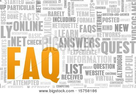 FAQ or Frequently Asked Questions Online Art