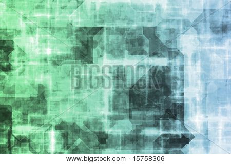 Futuristic Technology Data Flow Color Digital Abstract