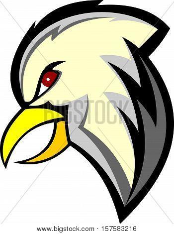 stock logo illustration cartoon head eagle bird
