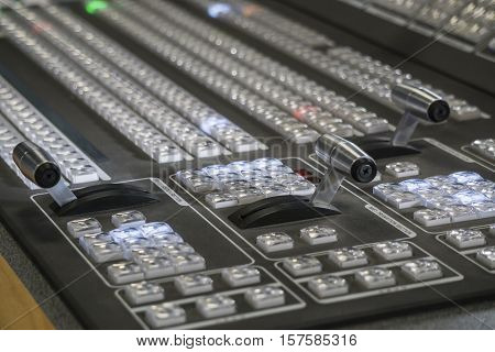 Professional Video Production Switcher of Television Broadcast Studio