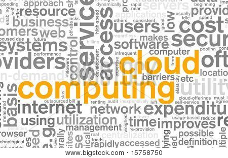 Cloud Computing Technology Concept as a Abstract