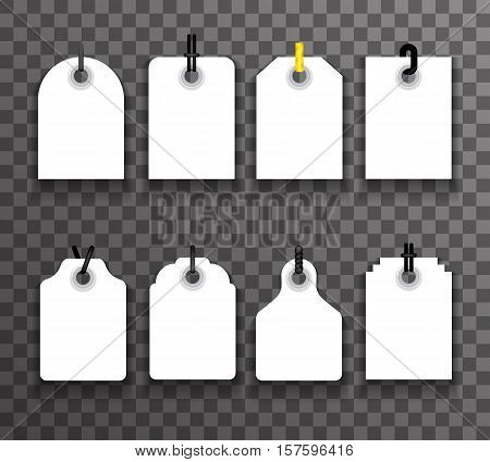 tag label and tally set price info sale transperent backgrouns vector illustration
