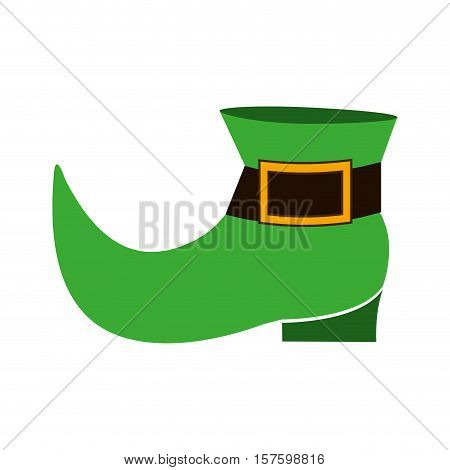 silhouette colorful with leprechaun shoe vector illustration