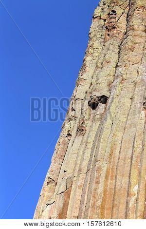 Devils Tower Rock Formations Natural Background.