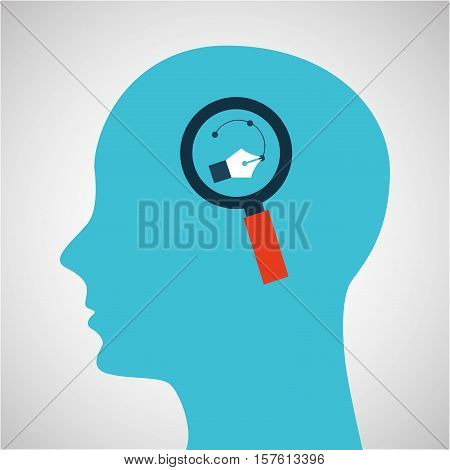 silhouette profile business strategy concept vector illustration eps 10