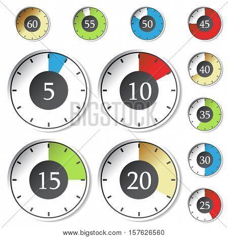 Vector timer on white background - illustration