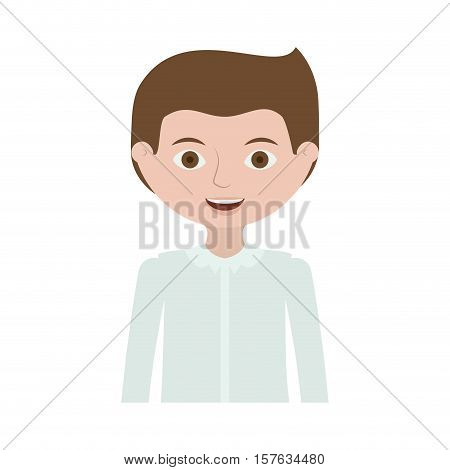 half body man with formal shirt vector illustration